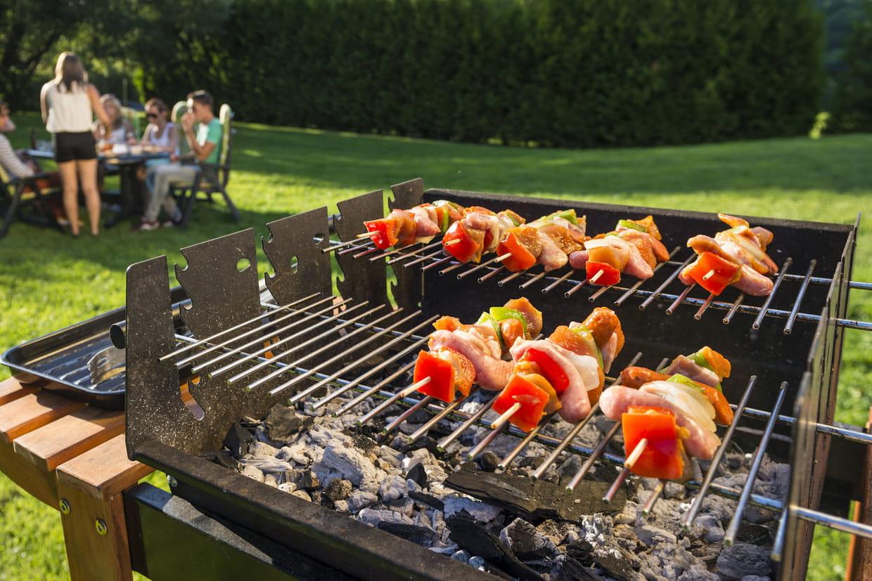barbecue à charbon de bois portable