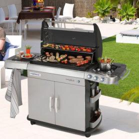 barbecue à gaz avec 6 brûleurs